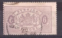 Suède - 1874/81 - Timbre De Service N°4B (dentelé 14) - Cote 60 - Service