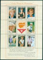 Cambodia 1997 Princess Diana In Memoriam, Lady Diana In Cambodia MS MUH - Cambodia