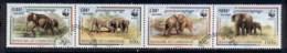 Cambodia 1997 WWF Elephants Str4 CTO - Cambodia