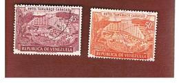 VENEZUELA  - SG 1453.1454   -  1957 TAMANACO HOTEL, CARACAS   -  USED° - Venezuela