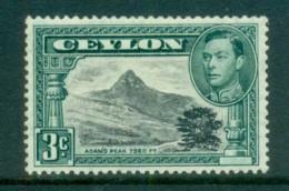 Ceylon 1938-52 KGVI Adam's Peak 3c Perf 13.5 MLH Lot82469 - Sri Lanka (Ceylon) (1948-...)