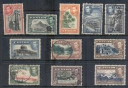 Ceylon 1938-52 KGVI Pictorials To 1RFU - Sri Lanka (Ceylon) (1948-...)