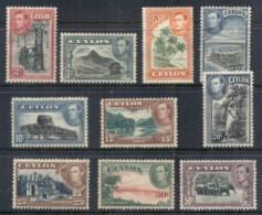 Ceylon 1938-52 KGVI Pictorials To 50c (disturbed Gum)MLH - Sri Lanka (Ceylon) (1948-...)