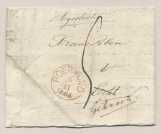 Nederland - 1866 - Voorbedrukt Formulier Van ROERMOND Naar ECHT En Door Naar Gemonde - Niederlande