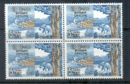 Ceylon 1963 National Conservation Week Blk4 MUH - Sri Lanka (Ceylon) (1948-...)