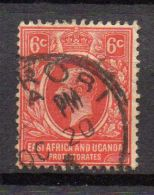 OUGANDA ( POSTE ) : Y&T N°  126  TIMBRE  TRES  BIEN  OBLITERE . - Kenya, Uganda & Tanganyika