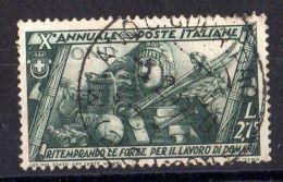 ITALIE ( POSTE ) : Y&T N°  319  TIMBRE   TRES  BIEN  OBLITERE . - 1900-44 Victor Emmanuel III