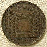 1817 RICOSTRUZIONE TEATRO SAN CARLO DOPO INCENDIO INC. BRANDT DIAM 42 MM RARA - Royal/Of Nobility