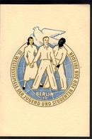 DDR Weltfestspiele Jugend + Studenten 289-292 Faltkarte Sport Rs Kleberückstände - Ohne Zuordnung