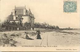 - Dpts Div.-ref-AD04- Loire Atlantique - Le Pouliguen - Grande Plage - Villa - Villas - Rails De Chemin De Fer - - Le Pouliguen