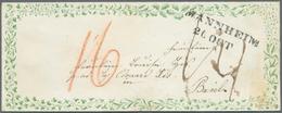 Baden - Vorphilatelie: 1846, Luxus-Zierbrief Mit Beidseitigem Grünem Ranken-Vordruck (unterschiedlic - Germany