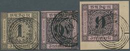 Baden - Marken Und Briefe: 1851, 1 Kr. Ziffer Im Kreis Schwarz Auf Braun, Gest. Oben Minimal Berührt - Baden
