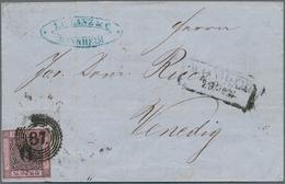 Baden - Marken Und Briefe: 1851, Ziffern 9 Kreuzer Schwarz Auf Lilarosa Auf Brief Von Mannheim 29.12 - Baden