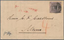 Baden - Marken Und Briefe: 1851, 9 Kr. Schwarz Auf Lilarosa (oben Berührt, Sonst Vollrandig) Auf Fri - Baden