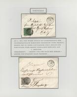 Baden - Marken Und Briefe: 1858/59, Portotaxenermässigung Für Briefe Unter 3 Meilen Von 3 Kreuzer Au - Baden