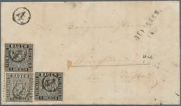 Baden - Marken Und Briefe: 1860/62 FARB & WERTSTUFENGLEICHE AUSGABEN-MISCHFRANKATUR WEIT+ENG GEZÄHNT - Baden