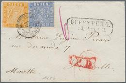 Baden - Marken Und Briefe: 1860, Drei Bessere Buntfrankaturen Der Eng Gezähnten 1860 Wappenausgabe: - Baden