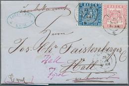 Baden - Marken Und Briefe: 1862/63, Wappen 6 Kr. Blau, Hintergrund Liniert Und 3 Kr. Rosa, Hintergru - Baden