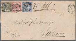 Baden - Marken Und Briefe: 1862/1864, 1 Kr. Schwarz, 3 Kr. Karmin Und 6 Kr. Ultramarin, Drei Werte F - Baden