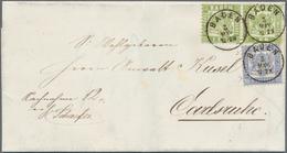 Baden - Marken Und Briefe: 1862/68, Ausgaben-Mischfrankatur 1862 Wappen Auf Weißem Grund 6 Kr. Hellg - Baden