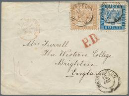 Baden - Marken Und Briefe: 1862, Wappen Auf Weißem Grund 6 Kr. Dunkelpreussischblau Und 9 Kr. Gelbbr - Baden