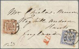 Baden - Marken Und Briefe: 1862, 9 Kr Rötlichbraun Und 6 Kr. Ultramarin Auf Brief Von Freiburg 13.12 - Baden