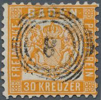 Baden - Marken Und Briefe: 1862, 30 Kr. Gelborange, Farbfrisch Und In üblicher, Meist Guter Zähnung - Baden
