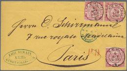 Baden - Marken Und Briefe: 1868, Oranges Couvert Mit Paar Und Einzelmarke 3 Kr. Rot Gelaufen Mit K1 - Baden