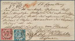 """Baden - Marken Und Briefe: 1868, Wappen 7 Kr. Blau Und 3 Kr. Rot Auf Couvert Mit K1 """"GERNSBACH 11 JU - Baden"""