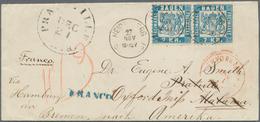 """Baden - Marken Und Briefe: 1868, Wappen 7 Kr. Blau Im Paar Auf Couvert Mit K1 """"HEIDELBERG 27 NOV"""" Un - Baden"""