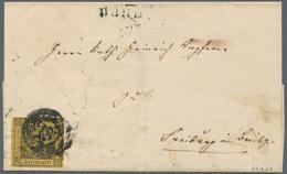 """Baden - Nummernstempel: """"22"""" Und Neben-L2 """"BURG 31. Feb (1851)"""" Etwas Verkleckst Auf Faltbrief Mit B - Baden"""