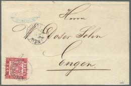 """Baden - Ortsstempel: """"NEUFREISTEDT 22 DEZ (1871)"""" K1 (später Postort) Auf Frischem Kabinett-Faltcouv - Baden"""
