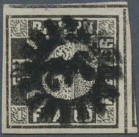 """Bayern - Marken Und Briefe: 1849, Schwarzer Einser 1 Kreuzer Schwarz, Platte 1 Mit GMR """"342"""" (Tegern - Bavaria"""
