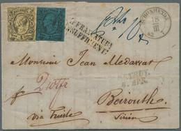 Sachsen - Marken Und Briefe: 1863, Faltbrief Nach Beiruth, Syrien, Freigemacht Mit 1855 Johann I 2 N - Sachsen