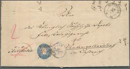 Sachsen - Marken Und Briefe: 1866, PREUSSISCH-ÖSTERREICHISCHER KRIEG, Militariabrief Aus MITTWEIDA A - Sachsen