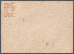 Sachsen - Ganzsachen: 1851, Seltenes Essay Für Ganzsachen-Umschlag 3 Ngr Rotviolett Der Firma Bartsc - Sachsen