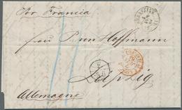 Sachsen - Besonderheiten: 1864, Eingehende Post, Brief Aus SAN SEBASTIAN, Spanien Nach Leipzig Mit P - Sachsen