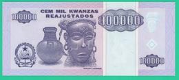 100 000 Wanzas - Angola -  1995 - N° RN8108344 - Neuf - Angola