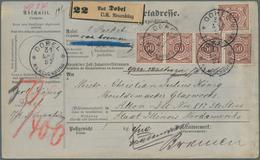 Württemberg - Marken Und Briefe: 1897, 50 Pfg. Dunkellilabraun, Acht Exemplare Vs. Und Rs. (ursprüng - Wurttemberg