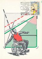 D35098 CARTE MAXIMUM CARD RR 1980 NETHERLANDS - SPORTS DISABLED WHEELCHAIR POSTMARK CHESS VISUAL HANDICAP CP ORIGINAL - Handisport