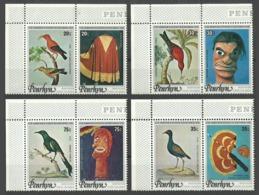 PENRHYN 1978 DISCOVERY OF HAWAII CAPTAIN COOK BIRDS ART SET MNH - Penrhyn