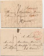 381/27 - 2 X Lettre Précurseur CHIMAY Vers NAMUR - Taxation 20 Cents NL En 1834 , 4 Décimes En 1835 - 1830-1849 (Belgique Indépendante)