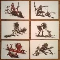 Lot De 6 Cartes Postales Illustrateur CROMWELL - Contemporain (à Partir De 1950)