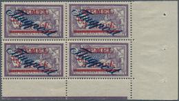 Memel: 1922, Flugpost 3 M Auf 60 C, MEMEL Als Postfrischer 4-er Block (senkrecht Vorgefaltet Bzw Ang - Klaipeda