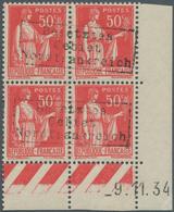 Dt. Besetzung II WK - Frankreich - Dünkirchen: 1940, 50 C Rot, Postfrischer Viererblock Aus Der Re. - Occupation 1938-45