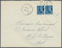 Dt. Besetzung II WK - Frankreich - Dünkirchen: 1940, 50 C. Merkurkopf Im Waagerechten Paar Mit Waage - Occupation 1938-45