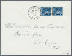 Dt. Besetzung II WK - Frankreich - Dünkirchen: 1940, 50 C. Merkurkopf Im Senkrechten Paar Mit Kopfst - Occupation 1938-45