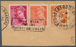 Dt. Besetzung II WK - Frankreich - Dünkirchen: 1940, 5 C. Und 15 C. Merkur Mit Aufdruck In Type II M - Occupation 1938-45