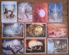 Lot De 10 Cartes Postales FAIRIES Fées Elfes / Illustrateur Patrick CAUZARD - Contes, Fables & Légendes