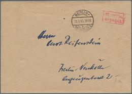"Berlin - Vorläufer: 1945, Umschlaf Mit Brückenstempel BERLIN - NEUKÖLLN 1b 22.5.45 Mit Rotem ""Gebühr - Briefe U. Dokumente"